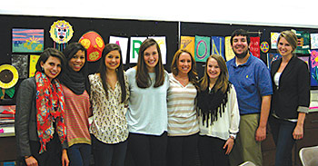 Museum Education Staff  (Left to Right) Emily Dean,  Brea Burkett, Julie Maudlin,  Mary Kate Keappler, Molly Scofield, Kelly Herbert, Steven Mockler, and Alexa Penton. Not pictured:  Ashton Wilcox.