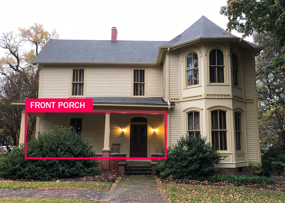Walton-Young front porch