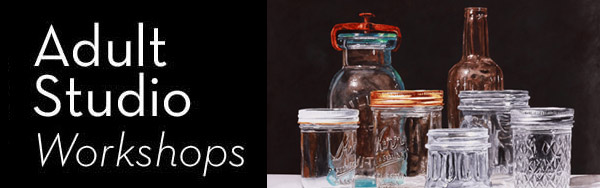 Realism in Watercolor: Painting clear and colored glass. Image of clear glass watercolor painting by Laurin McCracken.
