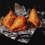 photo of Pears on Foil watercolor painting