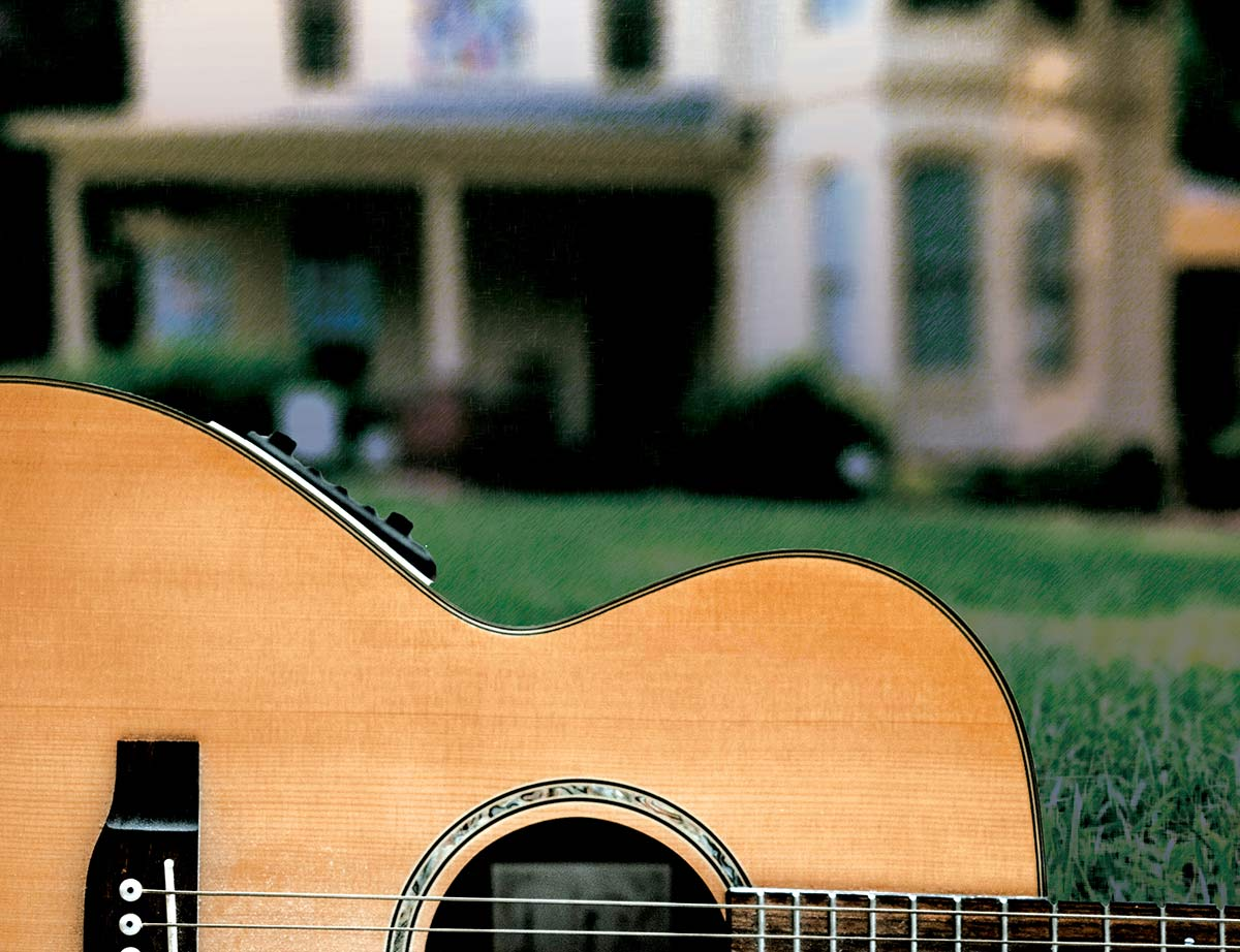 Guitar on the Walton-Young Lawn