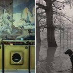 Laundromat (left) by Langdon Clay and Dog in Fog by Maude Schuyler Clay