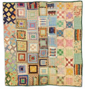 "circa 1945, 72"" x 76"". This sampler was make by an unknown quilter in Mississippi. Collection of the Art Fund, Inc. at the Birmingham Museum of Art; gift of Helen and Robert Cargo. Photo by Sean Pathasema."