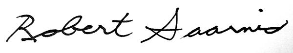 Robert Saarnio's signature