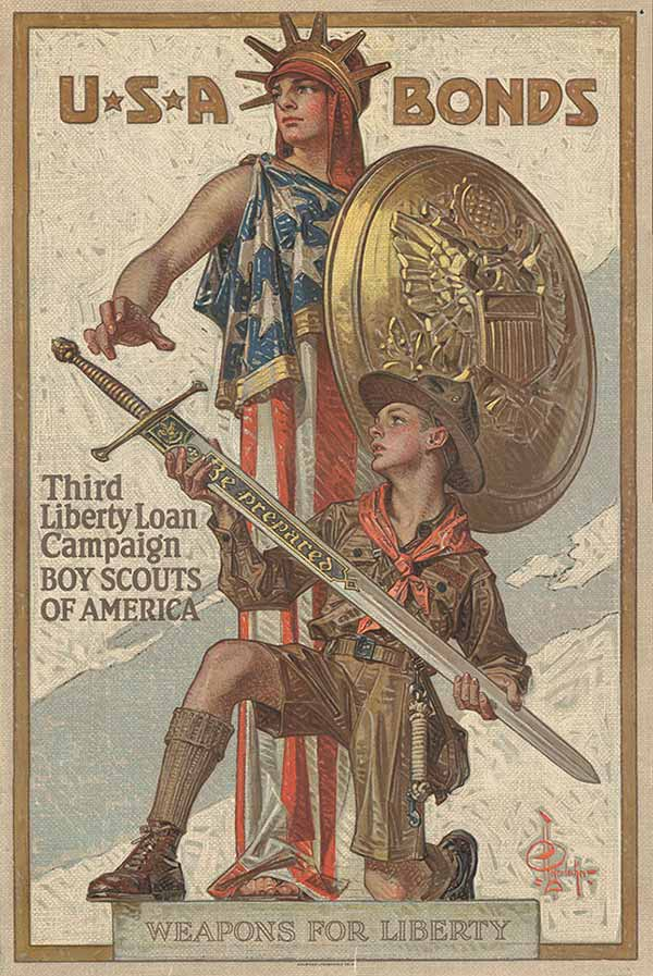 War bond 1918 poster by J.C. Leyendecker