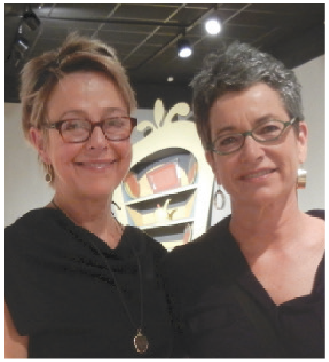 (Left to right) Julie Chadwick and Vivian Neill