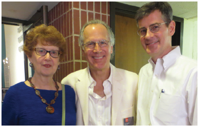 (Left to right) Mary Edith Walker, Bob Pekala,  and Jason Bouldin
